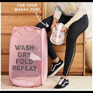 PINK Laundry Basket and Intimate Bag